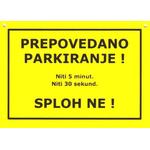 Tablica Darilo Prepovedano Parkiranje