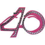 Dekoracija Očala Kamenčki 40 Let Roza