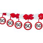 Girlanda iz papirja - prometni znak 50, 4m