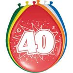 Baloni barvni iz lateksa, 40, 8kom, 3Ocm