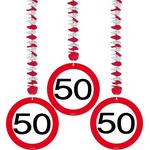Spirala iz papirja - prometni znak 50, 3/1