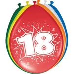 Baloni barvni iz lateksa, 18, 8kom, 3Ocm