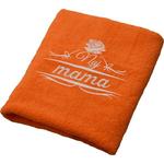 Brisača Naj mama, oranžna 100x5Ocm 100% bombaž