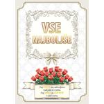 Voščilo, čestitka - vrtnice rdeče, vse najboljše, naj sreča..., bleščice/zlatotisk