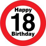 Prometni Znak 18 Happy Birthday