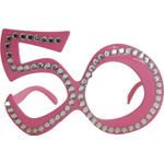 Dekoracija Očala Kamenčki 50 Let Roza