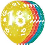 Baloni barvni iz lateksa, 18, 5kom, 3Ocm