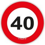 Set Konfeti XL Prometni Znak 40