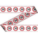 Trak iz pvc za označevanje - prometni znak 30, 15m