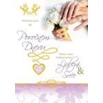Voščilo Čestitka Poroka Srečen Par Poročni Dan Bleščice