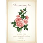 Voščilo, čestitka - sv. rumena,  roza vrtnice, Iskrene čestitke, naj bo tvoj...