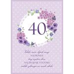 Voščilo Čestitka Vijolična Cvetje Sreča Sanje 40