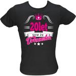 Majica ženska (telirana)-Sem že vrhunska 20 XL-črna