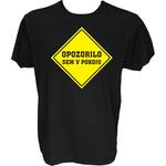 Majica-Opozorilo-sem v pokoju XXL-črna