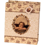 Darilna vrečka, motiv angela Rafaela, 26.5x33x14cm