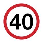 Serviete, prometni znak 40, 1/20, 33x33cm
