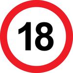 Prometni znak 18 let - 37cm, Arma