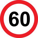 Prometni znak 60 let - 37cm, Arma