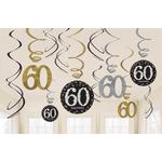 """Set spiral iz papirja, """"60"""", zlate pikice, 6/1, (3x17.7cm, 3x 12.7cm)"""