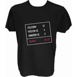 Majica-Izračun v okvirju 20 let L-črna