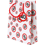 Darilna vrečka prometni znak 40, 31x45x11cm