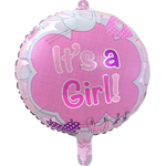 Balon napihljiv, za helij, za rojstvo, Its a Girl, 43cm