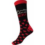 Nogavice šaljive, črne, zokni za seks, velikost 41-45