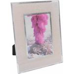 Okvir za sliko steklen, bež s srebrnimi bleščicami, za sliko 10x15cm, 18x1.2x23cm