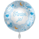 Balon napihljiv, za helij, Fantek je!, 43 cm