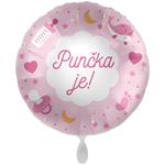 Balon napihljiv, za helij, Punčka je!, 43 cm