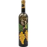 Vino Rumeni muレkat, 0.75l, poslikana steklenica - Na zdravje 70 -grozd