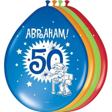 Baloni barvni iz lateksa, Abraham, 8kom, 3Ocm