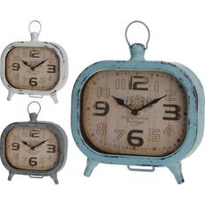 Namizna ura, kovinska, 19x20x5cm, sort.