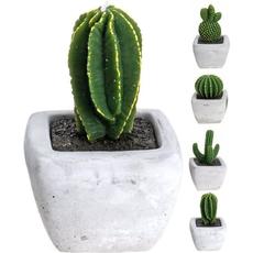 Sveča v obliki kaktusa v lončku, 14cm