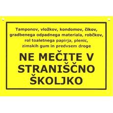 Tablica Darilo Tamponov Vložkov Kondomov