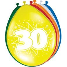Baloni barvni iz lateksa, 30, 8kom, 30cm