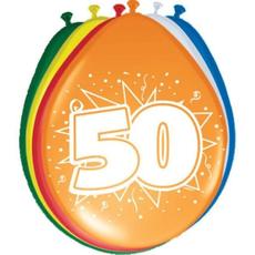 Baloni barvni iz lateksa, 50, 8kom, 3Ocm