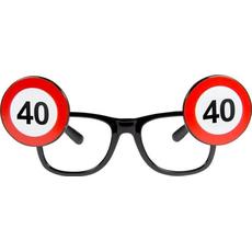 Dekoracija Očala Prometni Znak 40