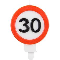 Sveča Prometni Znak 30