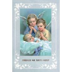 Vabilo Na Krst Dva Angelčka Za Fantke Voščilnice Zakramenti Krst