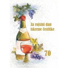 Voščilo, čestitka rojstni dan, Na zdravje, 70 let