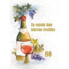 Voščilo, čestitka rojstni dan, Na zdravje, 80 let