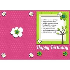 Čestitka za rojstni dan – Č.E.S.T.I.T.K.A
