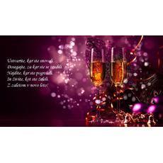 Novoletni verzi – Z zaletom v novo leto - voščilo