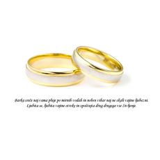 Poročni verz – Barka sreče - misel