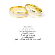 Poročni verz – Eno