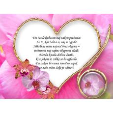 Poročni verz – Ljubezen naj zakon prežema