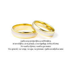 Poročni verz – Ljubezen nikoli ne mine - misel