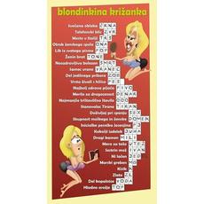 Karikatura fore - Blondinkina križanka (22,5 x 12cm)