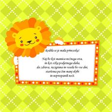 Verzi ob rojstvu punčke - Mala princeska
